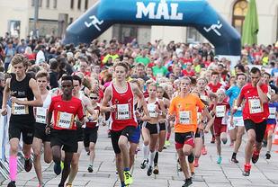 Fra starten på 3 km (foto: Kjell Vigestad).