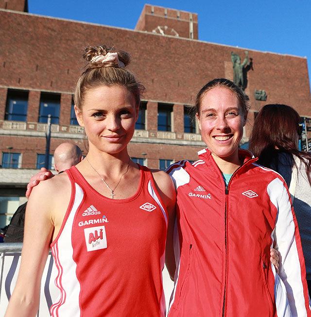 Live Solheimsdal og Hanne Mette Sande tok de to første plassene på 10 for Grete (foto: Kjell Vigestad).