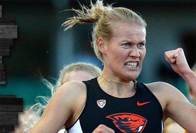 Kristiane Width var bare 18 sekund bak vinneren i det 5 km lange terrengløpet. (Foto: Oregon State University)