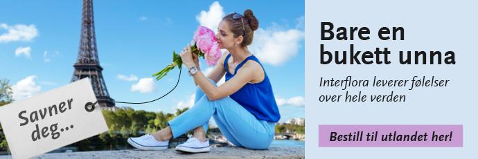 Blomster til utlandet