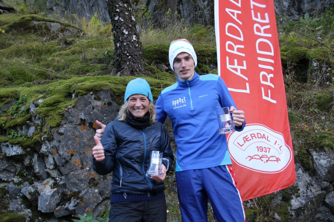 Janne Eikås og Marius Vedvik var dei raskaste i terrenget Galdane Rundt. (Foto: Jan Christian Jerving)