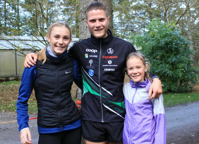 Camilla Ziesler, Christopher Rettedal og Ingrid Ingebrigtsen alle fra Sandnes IL.    Foto: Inge Akerjordet.