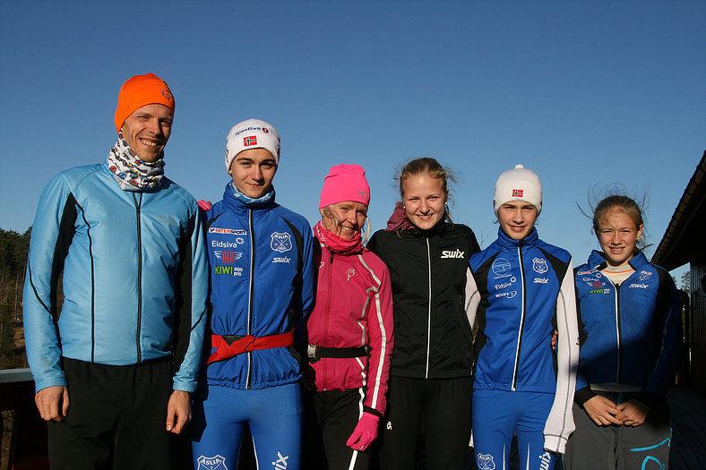 Alle klassevinnerne i Digeråsen opp! 2016 (fra venstre): Anders Johansen,Martin Nordvold Lunde, Ragnhild Bolstad, Fransizka Skogsholm, Elias Flasnes og Aurora Halbakken. (Arrangørfoto)