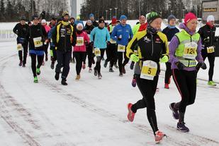 I fjor var løpet flyttet til et tidligere tidspunkt, likevel var det mer vinterlig enn på mange år - men gode løpsforhold likevel. (Foto: Olav Engen)