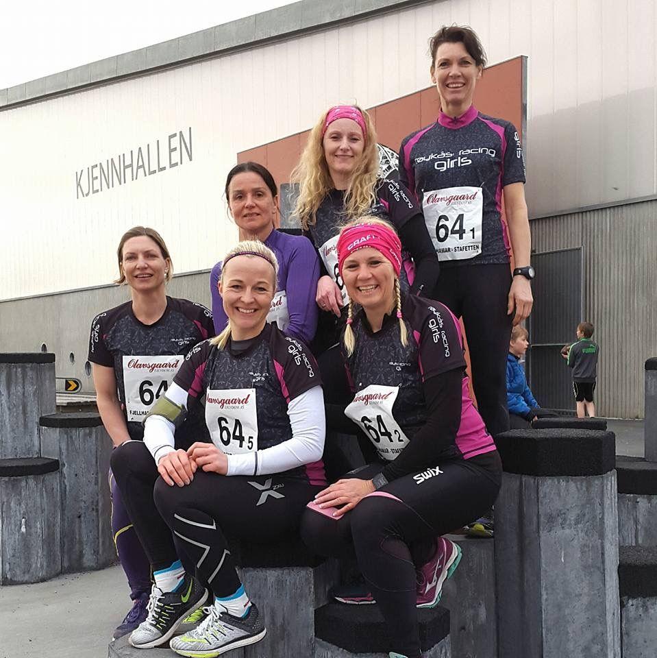 Røykås Racing Girls på Fjellhamarstafetten