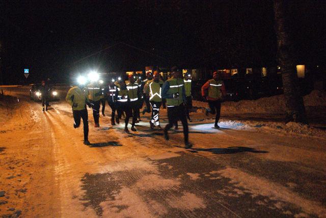 Rett etter start på sesongens første Snøkut på snøføre. (Foto: Stein Arne Negård)