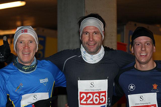 Topp 3 herrer dagens løp, Bjørn Harald Bongom, Stig Atle Eide og Øystin Brurok