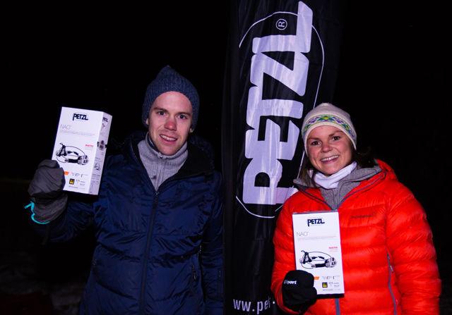 Vinnerne fra Flyktningeruta i sommer, Eirik Rustad og Marit Vala, vant også Hodelyktløpet. (Foto: Snorre Veggan)