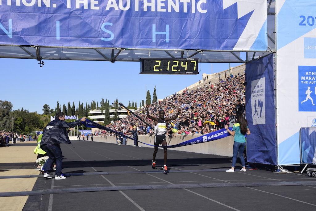 Vinneren i Athens Marathon Luka Rotich (foto: SEGAS-AMA)