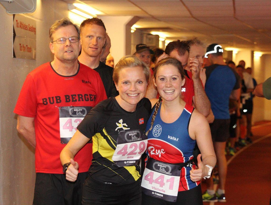 Straks start på 6-timers for Rita Steinsvik, Victoria Engebretsen og 59 andre løpere (foto: Olav Engen).