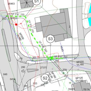 Bilde av plankart Ler sentrum
