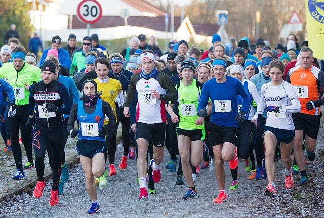 Det var barmark og fine forhold da 111 løpere fullførte det tredje løpet i Trøndersk Vinterkarusell i 2016. (Foto: Roger Midtstraum)