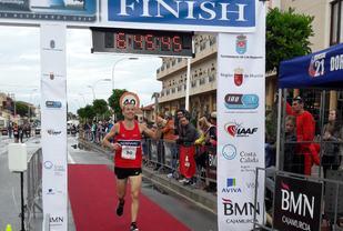 Didrik Hermansen satte en sterk norsk rekord på 6:45:43 da han i VM 2016 (Los Alcazares) løp inn til 15. plass, og bidro til at det norske laget ble beste europeiske herrelag på 4. plass