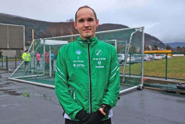 Olger Pedersen, Dimna IL løp bra og satte ny personlig rekord. Foto: Martin Hauge-Nilsen