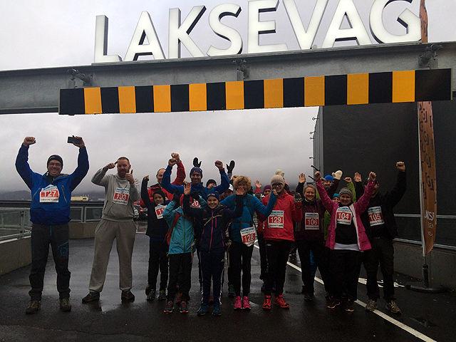 Trimmerne samlet før start på Laksevåg Senter (Foto: Patricia Flataker)