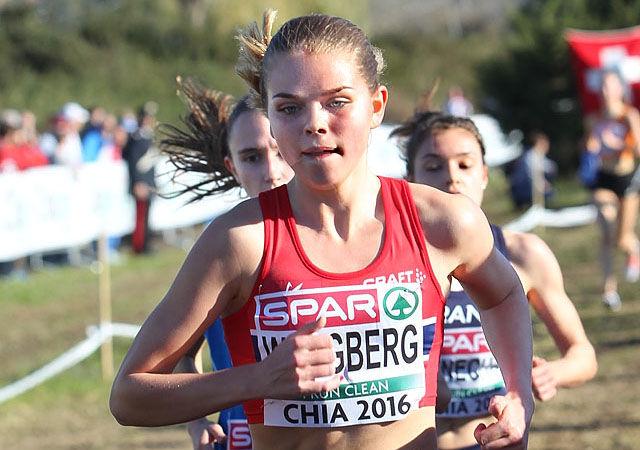 Flott plassering: Stine Wangberg sto for Norges tredje beste plassering i EM med sin 12. plass. (Foto: Kjell Vigestad)