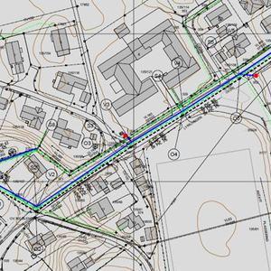 Kart over Lykkjvegen