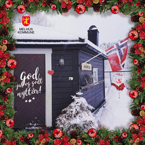 Julekort med snømann