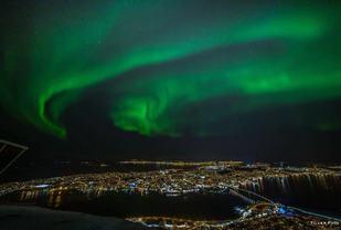 Aurora over Tromsø (foto: Truls Tiller / MSM).