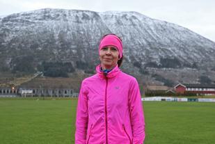 Tidligere eliteløper på mellomdistanser, Trine Pilskog fra Hjørungavåg er nå mosjonsløper, men viste i dag at formen fremdeles er god. Hun blei suveren vinner av kvinneklassen.