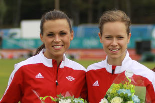 Veronika Blom (til venstre) og Silje Fjørtoft er to av ganske mange løpere som har meldt seg ut av Vidar. (Foto: Stig Vangsnes)