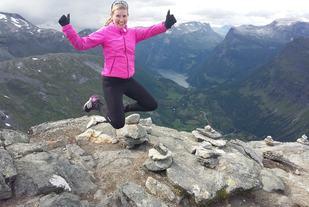 Isabel Aarnes rakk også noen flotte turer i 2016 som ikke var konkurranse. Her er hun på Dalsnibba (privat foto).