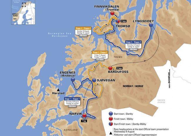 løypekart Artic Race 2017
