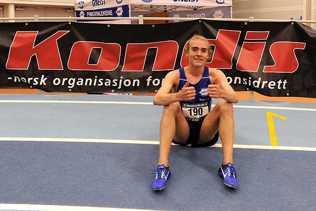 Jens Larsen Åstveit hadde ikke problemer med å vinne spurten.