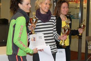 De tre raskeste norske kvinnene på 50 km i 2017: Aud Stuhr, Rita Nordsveen og Beate Walhovd. (Foto: Olav Engen)