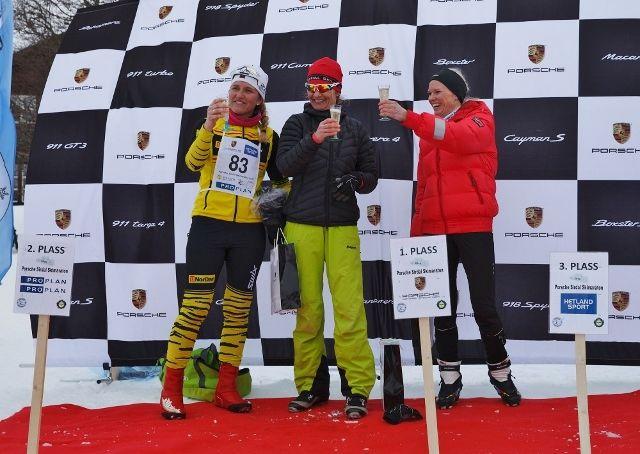 De tre raskeste kvinnene på 45 km; Ragna Skipstad, Wenche Kvæven og Yvonne Smith (arrangørfoto).