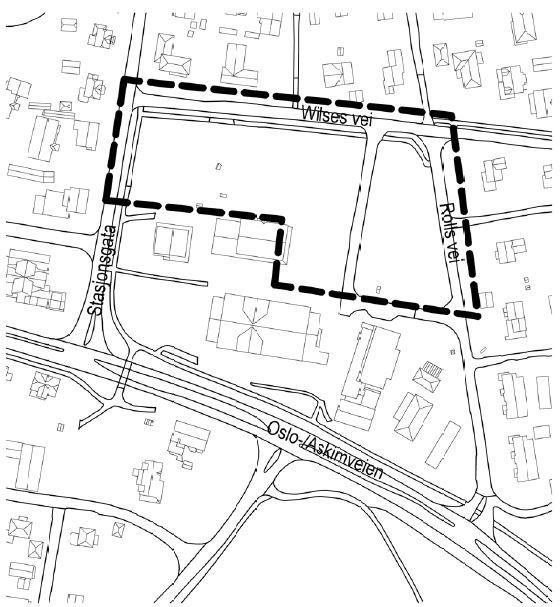 Kart som viser planområde felt S3 Myra_TEBO