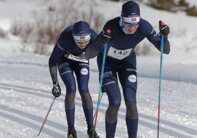 Svein Halvor Dahl tett fulgt av Ånund Lid Byggland.  Foto: Danny Seterdal og Torbjørn Dyrland.