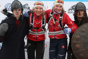 Dobbelt Rønning: Søstrene Tuva og An-Margritt Rønning vant 13- og 15-årsklassen.