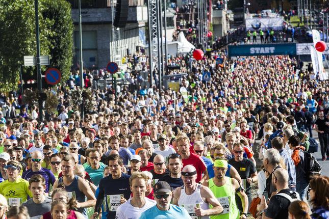 Fra Oslo Maraton 2016. (Arrangørfoto)