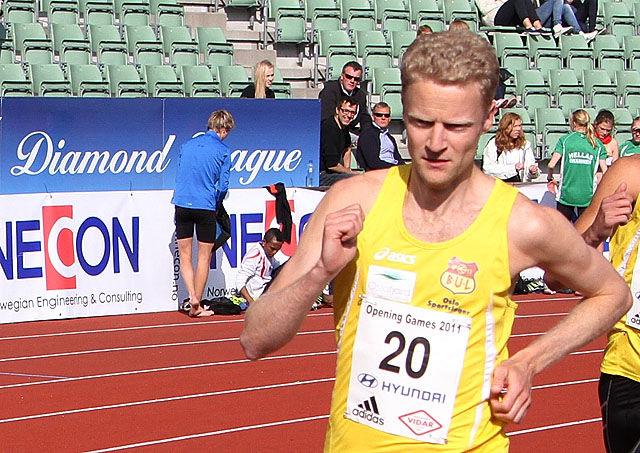 BUL-løperen Pål Johannes Larsen løp inn til gull i den yngste veteranklassen på 800 m. (Arkivfoto: Runar Gilberg)