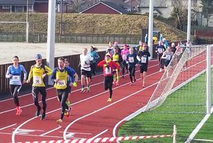 Startfeltet på maraton under Undheim Ultrafestival i 2017. (Foto: Arrangøren)