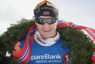 Petter Eliassen vinner Reistadløpet 2017. Foto: Arrangøren
