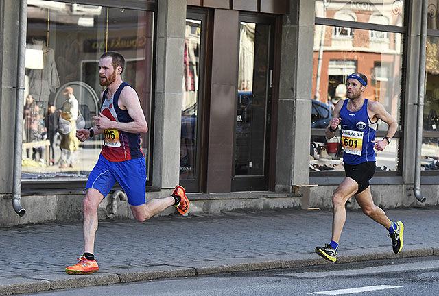 Orienteringsløperen Matthew Speake og Øystein Mørk løp sammen lenge. Foto: Bjørn Johannessen
