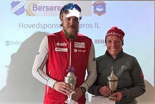 Totalvinnere av Berserennet 2017: Lars Gunnar Skjevdal og Tove Iren Gløtheim Ryttervold. (Arrangørfoto)