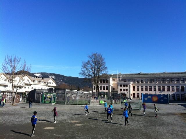 BIlde av storskolegården