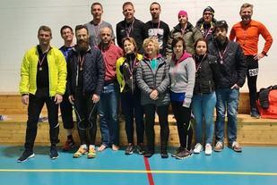 Her ser vi flertallet av de som fullførte 8x 10 km i Røyse Ultra 2017. (Arrangørfoto)