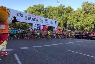Fra årets Rock 'n' Roll Madrid Marathon som gikk under løpsforhold med sol og temperaturer i overkant av 10 grader (Foto: facebook.com/RnRMadrid)