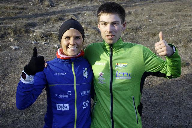 Marte Flatlien, Lillehammer IF og Geir Steig, Luster IL ble raskeste kvinne- og herreløper i Kringsjåløpet