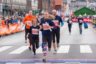 Bergen City Maraton i 2017. Foto: Martin Huddart
