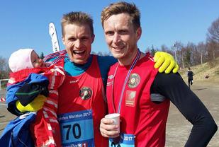 Lasse Blom og Kjell Arne Trælnes . Foto: Synøve Brox