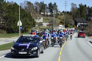 Starten har gått for 35 km i Høiåsrittet 2017. (Alle foto: Bjørn Johannessen)