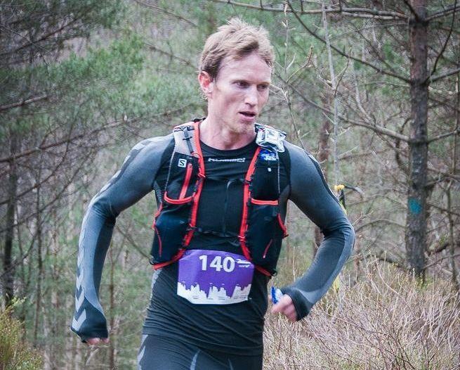Frank Løke imponerte med sterk løping og 3. plass i det 60 km lange terrengultraløpet KRSUltra i april. (Foto: Thomas Øderud)