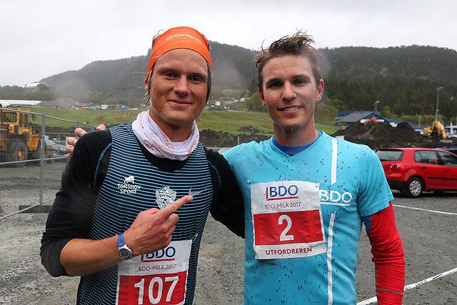 Sondre Øvre-Helland var den lokale løperen som kunne utfordre Didrik Tønseth fra skilandslaget.
