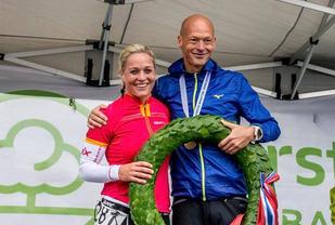 Gerda Fasseland og Erik Bergesen vant Risør Konvoi Maraton i fjor. De får nok hardere konkurranse når det i år skal kjempes om NM-medaljer. (Foto: Johannes Hoel)