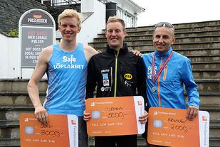 Premiepallen 2017 menn, fra venstre: Joel Dyrhovden, Torstein Tengsareid og Kristian Jarnung.